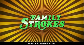 FamilyStrokes - Curvy Step Daughter Revenge Fucks Step Dad on Fathers Day
