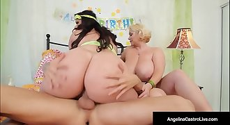 Cuban BBW Angelina Castro &amp_ Sam GG Take Turns Fucking John!