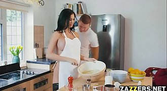 Jasmine Jae teases the camera and Marc while baking