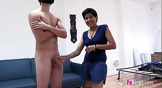 Cleaning lady cannot resist big Fabio'_s cock